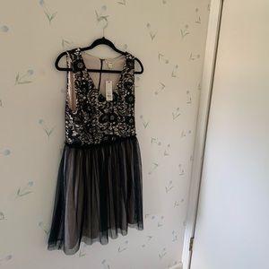 Francesca's black Lacey dress